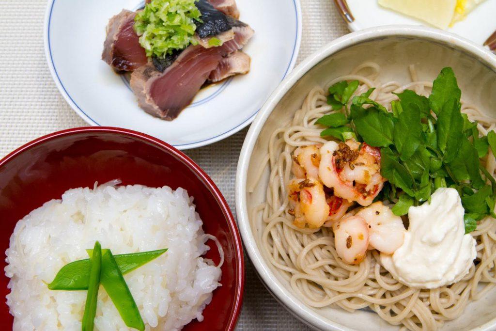 「季節のお蕎麦とご飯」1,350円